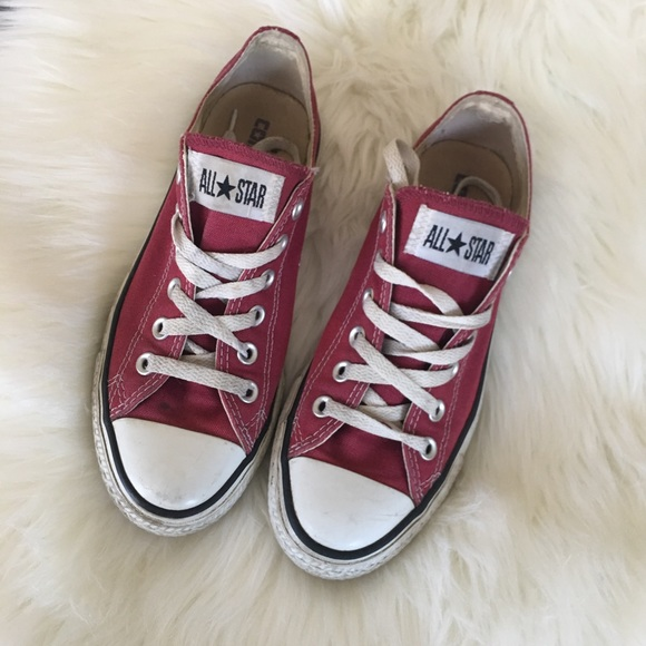 4e43bec4cca7f3 Converse Shoes - Women s Maroon Low Top Converse Sneakers Size 7